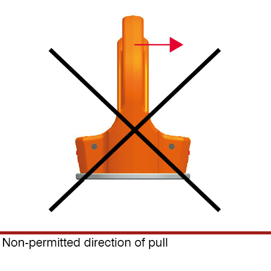 PLGW-SN Non-permitted direction of pull