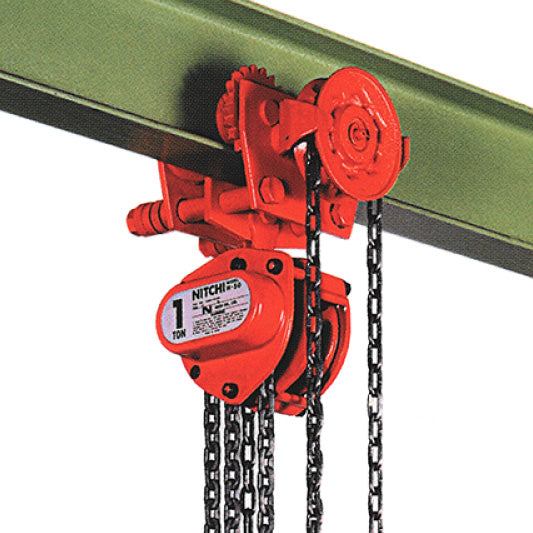 Nitchi HGB50A Combined Manual Chain Hoist With Geared Trolley