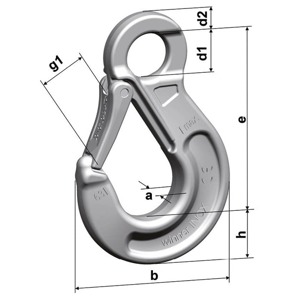 HSWI Stainless Steel Eye Sling Hook