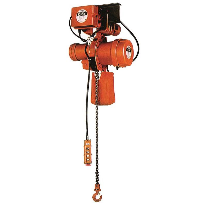 Nitchi MHE5F Electric Chain Hoist With Trolley 400V Single Speed