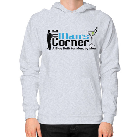 Hoodie (on man) Heather grey Man's Corner