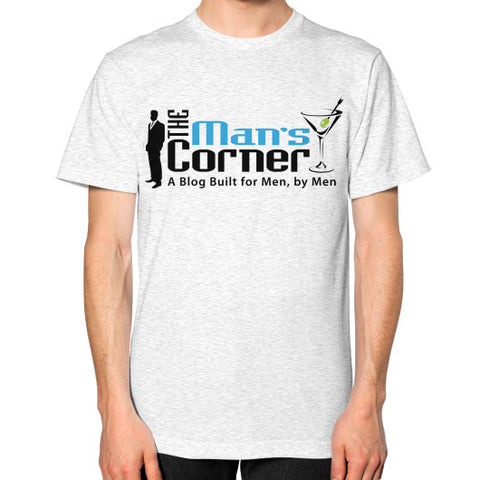Unisex T-Shirt (on man) Ash grey Man's Corner