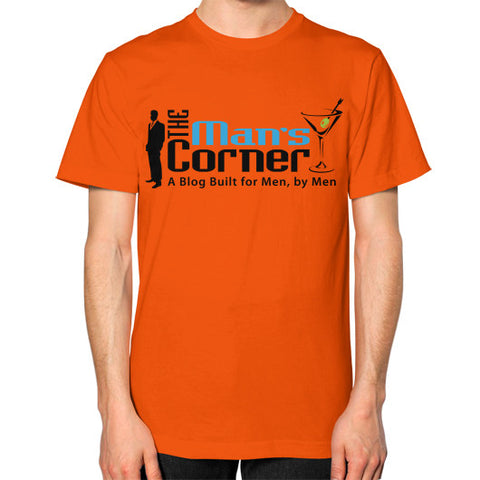 Unisex T-Shirt (on man) Orange Man's Corner