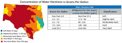 Texas and Oklahoma Water Hardness Map