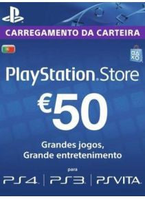 Playstation Network [PSN] | Cash Cards | 50 EURO | Portugal
