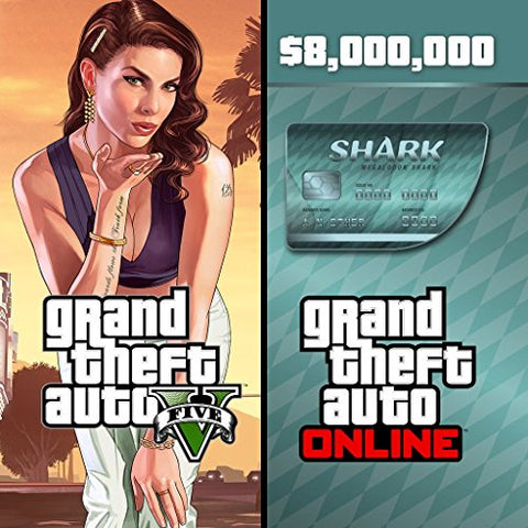 Grand Theft Auto V GTA + Megalodon Shark Cash Card | PC Game
