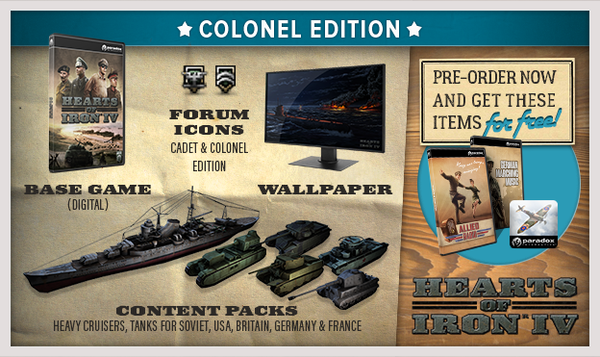 Hearts of Iron 4 IV (Colonel Edition)