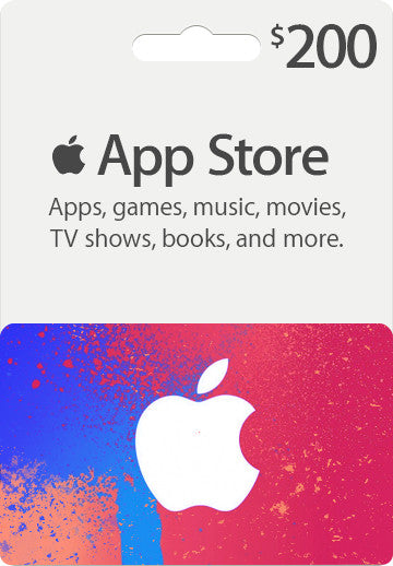 iTunes | Apple App Store | Gift Cards | 200 DOLLARS