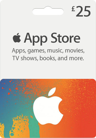 iTunes | Apple App Store | Gift Cards | 25 POUNDS | UK