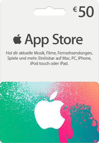 iTunes | Apple App Store | Gift Cards | 50 EURO | German