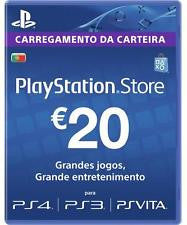 Playstation Network Psn Cash Cards 20 Euro Portugal