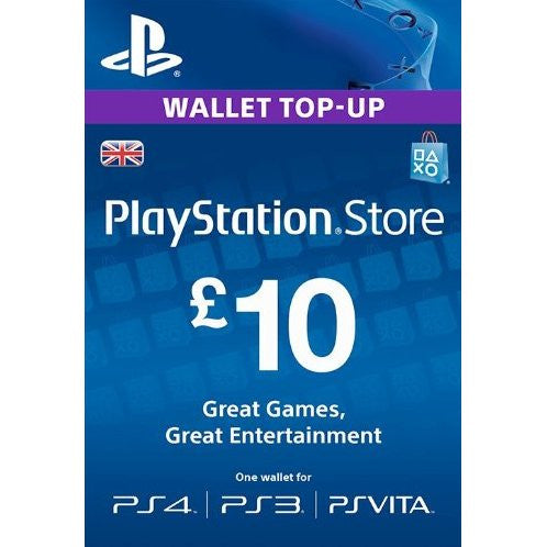 Playstation Network [PSN] | Cash Cards | 10 POUND | UK
