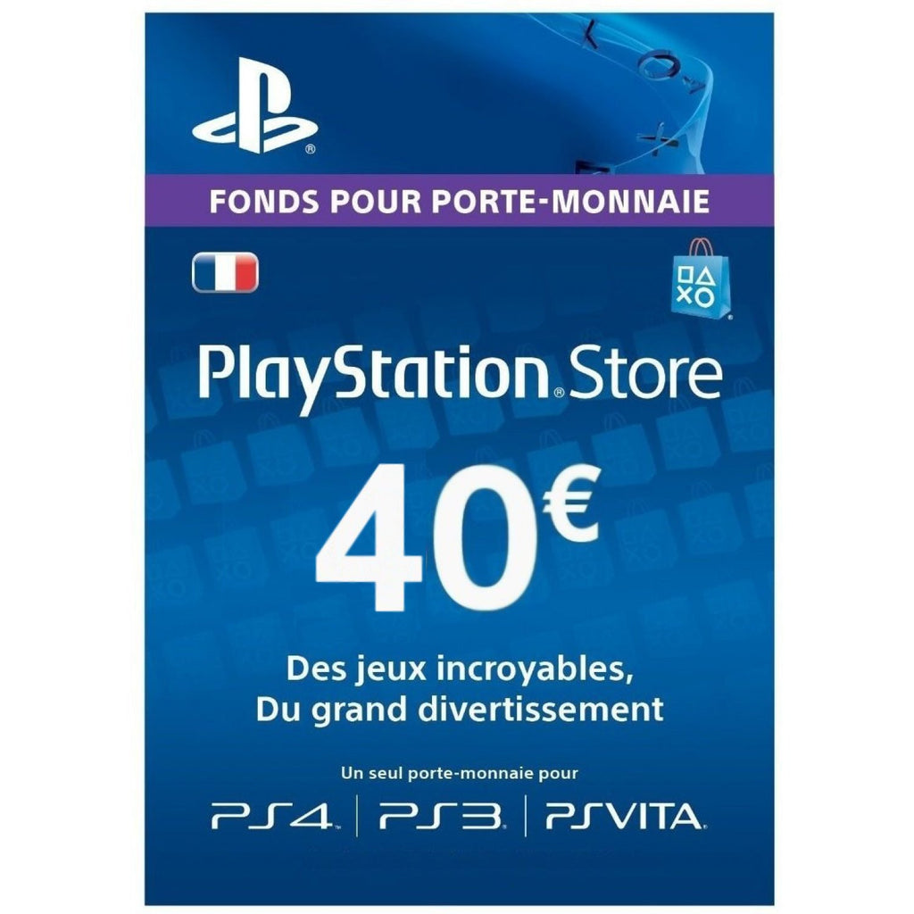 Playstation Network [PSN] | Cash Cards | 40 EURO | France