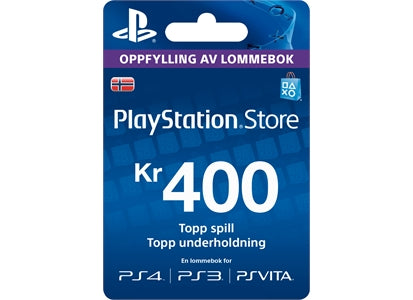 Playstation Network [PSN] | Cash Cards | 400 NOK | Norway