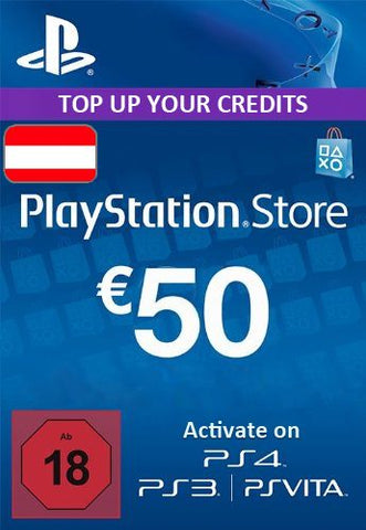 Playstation Network [PSN] | Cash Cards | 50 EURO | Austria