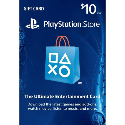 Playstation Network [PSN] | Cash Cards | 10 DOLLAR | Canada