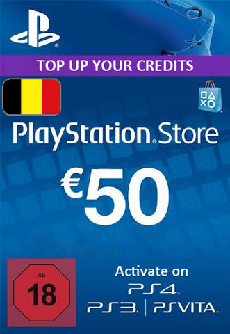Playstation Network [PSN] | Cash Cards | 50 EURO | Belgium