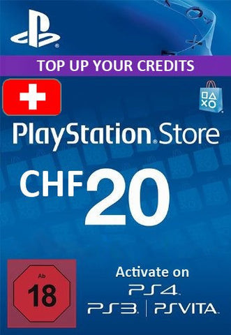 Playstation Network [PSN] | Cash Cards | 20 CHF | Switzerland