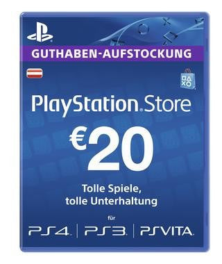Playstation Network [PSN] | Cash Cards | 20 EURO | Austrian