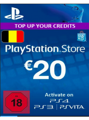 Playstation Network [PSN] | Cash Cards | 20 EURO | Belgium