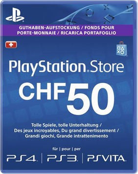 Playstation Network [PSN] | Cash Cards | 50 CHF | Switzerland