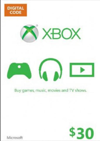 Xbox Live Gold | Cash Card | 30 DOLLARS
