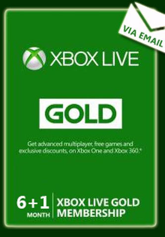 Xbox Live Gold 6+1 Months | Subscriptions | UK
