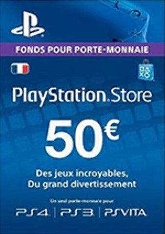 PlayStation Network [PSN] | Cash Card | 50 EURO | France - www.15digits.co.uk