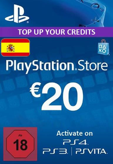 PlayStation Network [PSN] | Cash Card | 20 EURO | Spain - www.15digits.co.uk