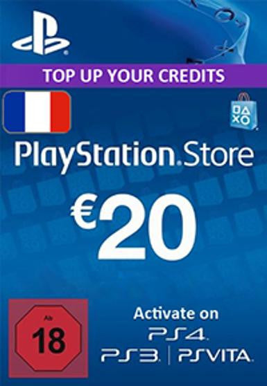 PlayStation Network [PSN] | Cash Card | 20 EURO | France - www.15digits.co.uk