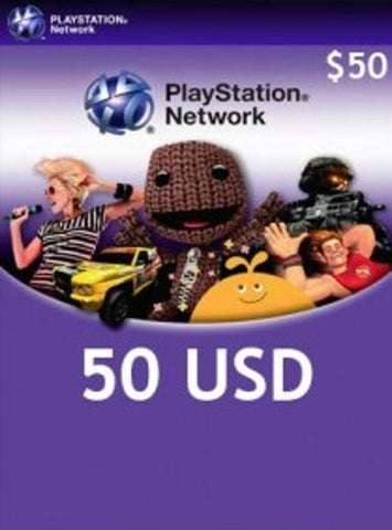 Playstation Network | Cash Card | 50 DOLLARS | USA