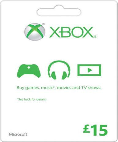 Xbox Live Gold | Cash Card | 15 POUNDS