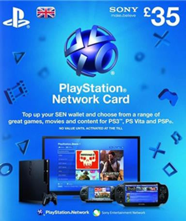 PlayStation Network Card | Cash Card | 35 POUNDS | UK