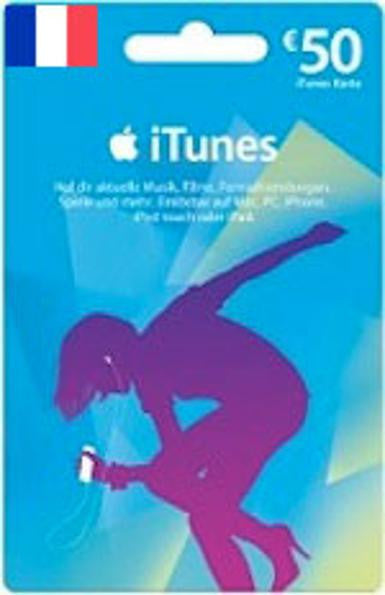 iTunes | Apple App Store | Gift Cards | 50 EURO | France