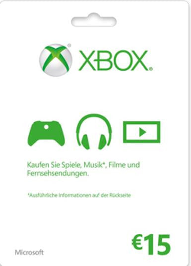 Xbox Live Gold | Cash Card | 15 EUROS