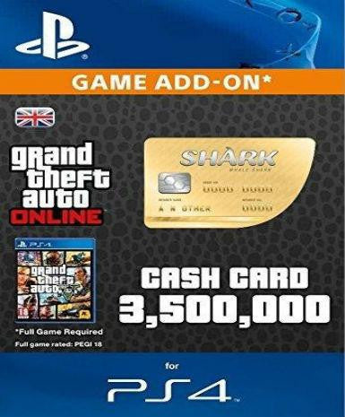 Grand Theft Auto V GTA: Whale Shark Cash Card | PS4 Game - www.15digits.co.uk
