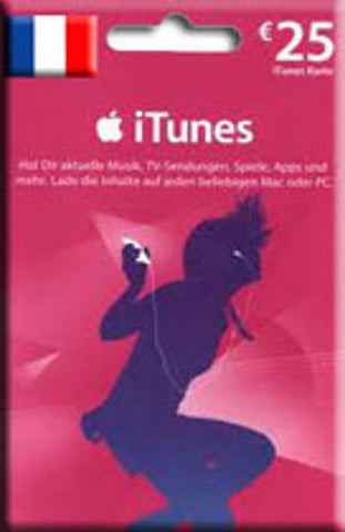 iTunes | Apple App Store | Gift Cards | 25 EURO | France