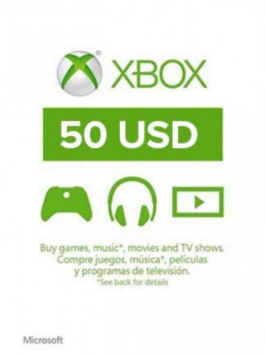 Xbox Live Gold | Cash Card | 50 DOLLARS