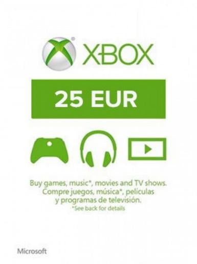 Xbox Live Gold | Cash Card | 25 EUROS |