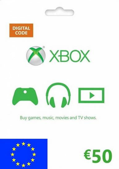Xbox Live Gold | Cash Card | 50 EUROS