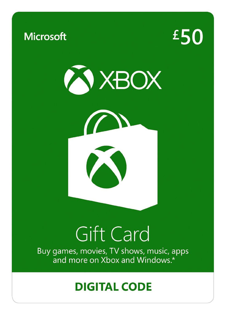 Xbox Live Gold | Cash Card | 50 GBP - www.15digits.co.uk