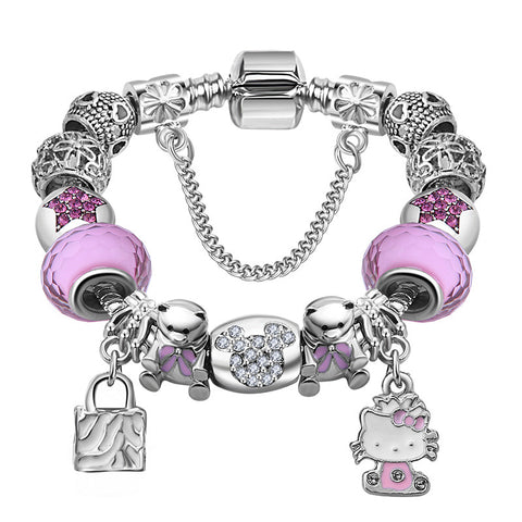 Hello Kitty Charm Bracelet Bear Beads - DHUAHU LLC