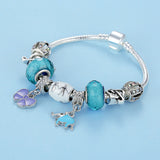 Luxury Family Bead  Elephant & Flower Charms Bracelet - DHUAHU LLC - 2