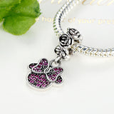 New Fashion Minnie Mouse Bow Charm Bead fit Pandora Bracelet - DHUAHU LLC - 2