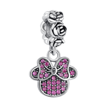 New Fashion Minnie Mouse Bow Charm Bead fit Pandora Bracelet - DHUAHU LLC - 1