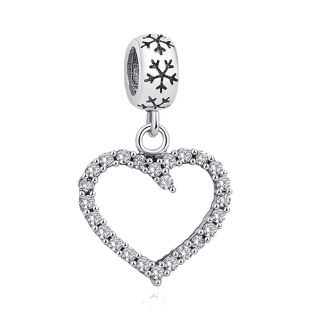 Exquisite Antique Silver Hollow Heart Dangle Charm fit Pandora Bracelet - DHUAHU LLC - 1