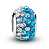 European Silver Enamel Murano Glass Crystal Beads fit Pandora Bracelet - DHUAHU LLC - 1
