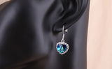 Heart of Ocean Earring 18K Platinum Plated with Austrian SWA Element - DHUAHU LLC - 4