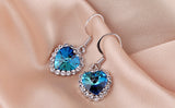 Heart of Ocean Earring 18K Platinum Plated with Austrian SWA Element - DHUAHU LLC - 2