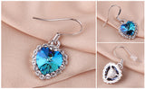 Heart of Ocean Earring 18K Platinum Plated with Austrian SWA Element - DHUAHU LLC - 3